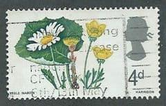 1967 4d 'WILD FLOWERS' (PHOS)  FINE USED