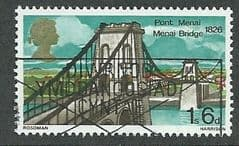 1968  1/-6d 'BRITISH BRIDGES ' FINE USED