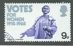 1968  9d 'ANNIVERSARIES -VOTES FOR WOMEN ' FINE USED