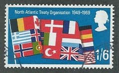 1969 1/-6d 'ANNIVERSARIES - 2ND SERIES- NATO' FINE USED