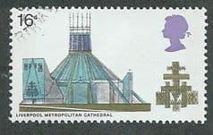 1969 1/-6d 'CATHEDRALS - LIVERPOOL METROPOLITAN'  FINE USED