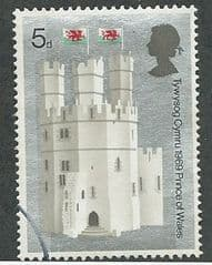 1969 5d 'INVESTITURE OF HRH PRINCE OF WALES - THE EAGLE TOWER' FINE USED