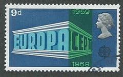 1969 9d 'ANNIVERSARIES - 2ND SERIES- EUROPA' FINE USED