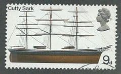 1969 9d 'BRITISH SHIPS - CUTTY SARK  '  FINE USED