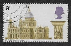 1969 9d 'CATHEDRALS - ST PAULS' FINE USED