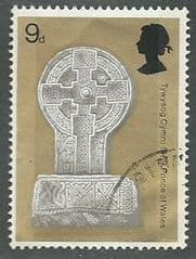 1969 9d 'CELTIC CROSS ' FINE USED