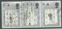 1969 SE~TE STRIP OF 3 X 5d 'INVESTITURE OF HRH PRINCE OF WALES '  FINE USED