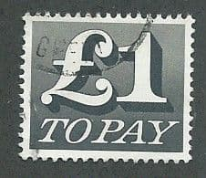1970 £1.00 'BLACK'  FINE USED