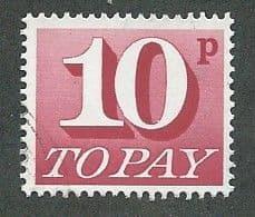 1970 10P 'CARMINE'  FINE USED