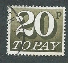 1970 20P 'OLIVE BROWN'    FINE USED