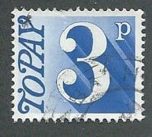 1970 3P 'ULTRAMARINE'  FINE USED