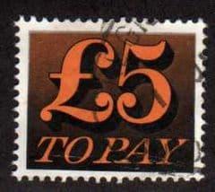 1970 £5.00 'ORANGE AND BLACK' FINE USED