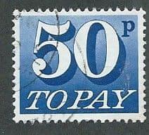 1970 50P 'ULTRAMARINE' FINE USED