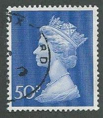 1970 50P 'ULTRAMARINE' MACHIN   FINE USED