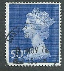 1970 50P 'ULTRAMARINE' MACHIN   PARCEL POSTED USED
