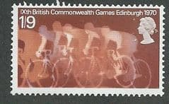 1970 U/M  1/9d 'COMMONWEALTH GAMES'