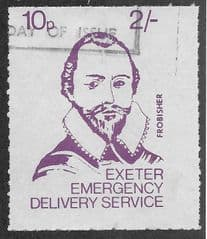 1971 10P 'EXETER STRIKE MAIL- FROBISHER' FINE USED