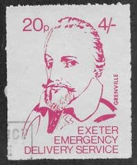 1971 20P 'EXETER STRIKE MAIL- GRENVILLE' FINE USED