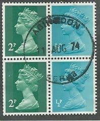 1971 5P 'BOOKLET PANE  FINE USED  TAKEN FROM BOOKLET PANE X41la