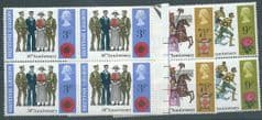 1971 U/M BLOCKS OF 4'S  SET  'ANNIVERSARIES AND EVENTS' (12v)