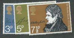1971 U/M SET  'LITERARY ANNIVERSARIES' (3v)