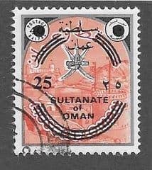 1972 25b ON 40b 'PORT' (OVPT SULTANATE OF OMAN) 'FINE USED