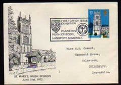 1972 CHURCHES 'HUISH EPISCOPI' CANCELLED FDC