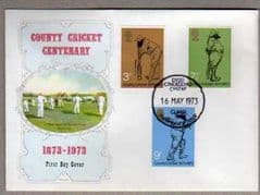 1973 COUNTY CRICKET FDC,WELSH CDS