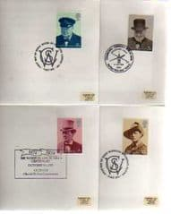 1974 'WINSTON CHURCHILL' SET 4 X APPROPIATE PMKS