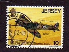 1975  10p   '50th ANN R.A.F. ASSOCIATION -JERSEY'