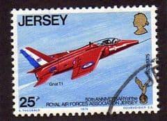 1975  25p   '50th ANN R.A.F. ASSOCIATION -JERSEY'   FINE USED