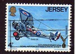 1975  4p   '50th ANN R.A.F. ASSOCIATION -JERSEY'   FINE USED