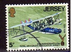 1975  5p   '50th ANN R.A.F. ASSOCIATION -JERSEY'   FINE USED