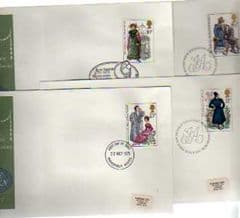1975 'JANE AUSTEN' SET OF 4 X APPROPIATE PMKS