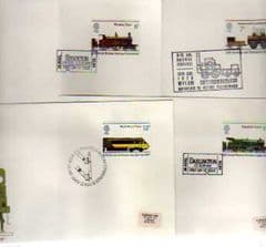 1975 'RAILWAYS' SET OF 4 X APPROPIATE PMKS