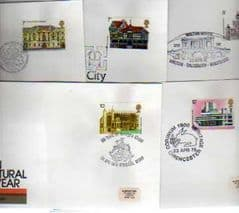 1976 'EURO ARC'TURAL HERITAGE YEAR' SET OF 5 X