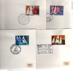 1976 'SAILING' SET OF 4 X APPROPIATE PMKS