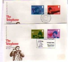1976 'THE TELEPHONE' 2 COVERS X APPROPIATE PMKS