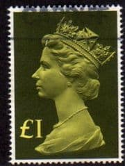 1977 £1.00 'BRIGHT YELLOW/ OLIVE' FINE USED