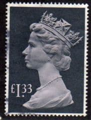 1977 £1.33 'PALE MAUVE/ GREY BLACK' FINE USED