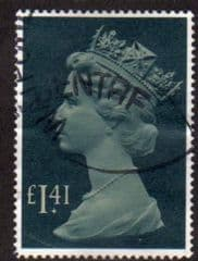 1977 £1.41 'PALE DRAB/GRN BLUE' FINE USED