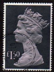 1977 £1.50 'PALE MAUVE/ GREY BLACK' FINE USED