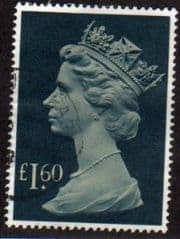 1977 £1.60 'PALE DRAB/GRN BLUE' FINE USED