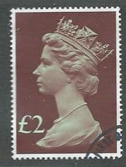 1977 £2.00 'LIGHT EMERALD AND PURPLE BROWN'  FINE USED