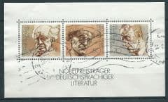 1978 'GERMAN LITERATURE NOBEL PEACE PRIZE WINNERS' M/S (POSTALLY USED)  FINE USED*