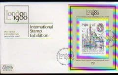 1980 INT STAMP EXHIBITION FDC