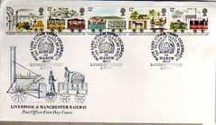 1980 LIVERPOOL-MANCHESTER RAILWAY FDC,LOUGHBOROUGH.