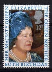 1980 U/M SET 80TH BIRTHDAY-QUEENS' MUM'S' (1v)