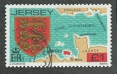 1981 £1.00 'MAP OF JERSEY' FINE USED