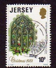 1981  10p   'CHRISTMAS'   FINE USED